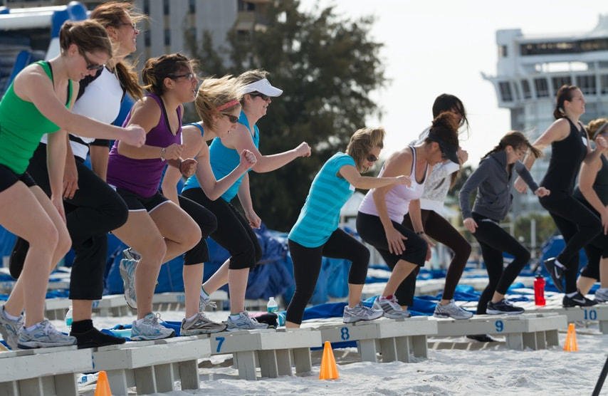 Fitness & Yoga Retreat Florida, Beach Boot Camp, St. Pete Beach, Florida