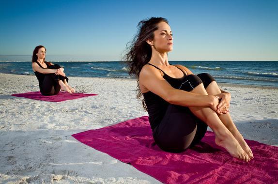 Fitness & Yoga Retreats, Beach Yoga, St. Pete Beach, Florida, Girlfriend Fitness Getaway